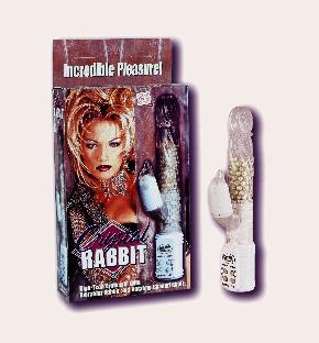 picture of Crystal Rabbit clitoral stimulator copyright © Giggles World. Used by permission.